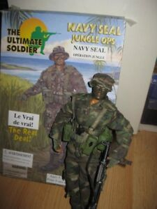 """GI JOE Ultimate Soldier Navy Seal Jungle Ops 12"""" Action Figure w"""
