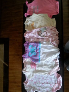Baby items - bouncer, clothes, playmat