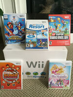 Nintendo Wii Console Video Game system with 5 games