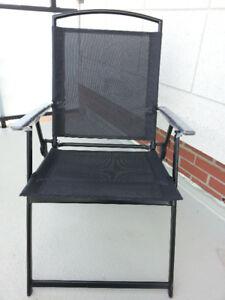 Brand new set of 2 patio/balcony folding chairs