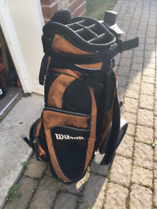 Sac de golf Wilson et chariot neuf