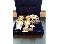 Silver platter goblets