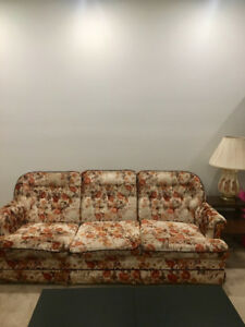 FREE floral couch - getting new furniture!
