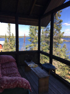 MINAKI near KENORA Two bedroom lakefront cabin weekend rental
