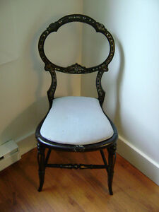 Inlaid Mother of Pearl Chair