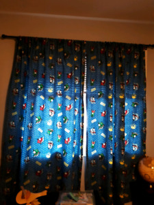 Thomas the Train curtains $10