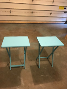 Sea Blue folding side tables - good for indoors and outdoors
