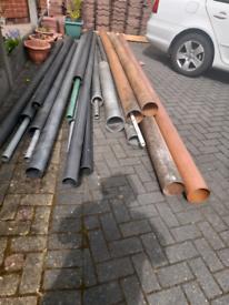 Underground drain pipes