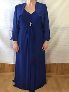 Royal blue gown, size 22-24