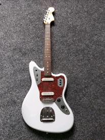 Fender Squier Jaguar modified Olympic white