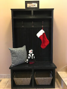 Entryway Hall Tree with Storage