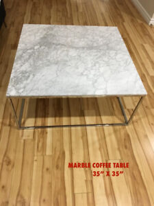 MARBLE COFEE TABLES IS ONLY USED A FEW MONTHS!!!
