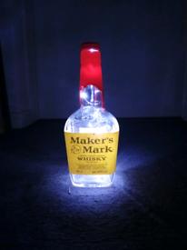 Maker Mark Bottle Table Lamp