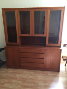 Teak China Cabinet and Hutch