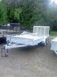 Tandem Galvanized Trailer 7000lb Save $500.00