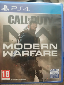 Call of Duty MODERN WARFARE ps4 game (CoD)