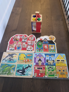 Melissa & Doug puzzle and game set. All or nothing.