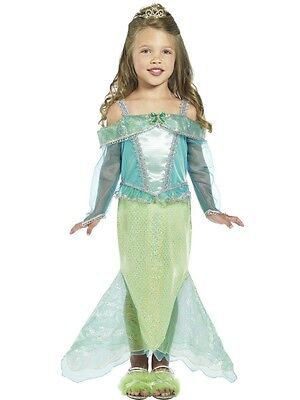 Mermaid Halloween Costumes For Girls (Girls Mermaid Costume Green Blue Fancy Dress Halloween Toddler Child Kids)
