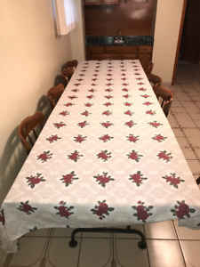 Vintage Large Folding Table and Chairs
