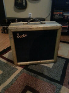 "1956 Supro Amp ""Brentwood"" TWEED , marshall, national, fender"