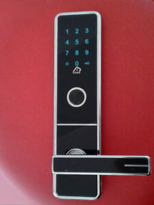 Black Glass Electronic Touch Screen Password Lock 12'x 3'