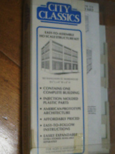 HO scale warehouse for electric model trains
