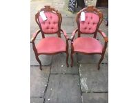 Vintage Mahogany Occasional / Bedroom Chair - CAN DELIVER