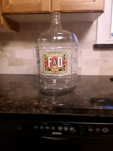 Glass jar with decal