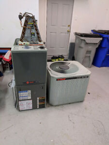 Trane high efficiency gas furnace and central air