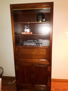 Nice wooden book case with fold down shelf for Liquor Cabinet