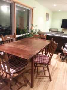 Solid Maple Table & Solid Wood Chair Set