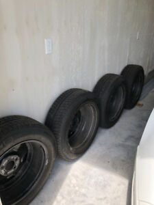 4 Michelin X-Ice winter tires/steel rims/ sensors