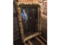 Foxed Mercury Style Distressed Mirror Deep French Gilt Frame Macabre Distorted