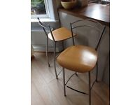 2 kitchen breakfast bar stools