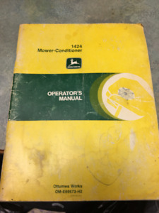 John Deere Tractor and  Machinery Operating Manuals