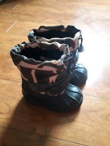 Joe fresh camo toddler winter boots