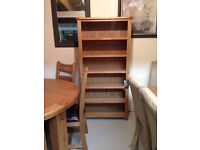 Large solid oak bookcase sale