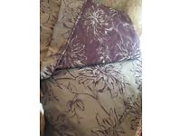Next king size duvet cover with matching curtains
