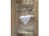 Hessian present sack - wedding