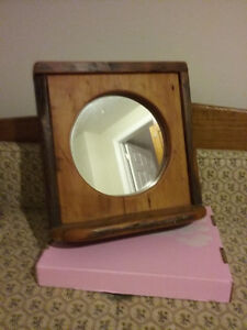 Round Mirror with Pine Frame - Reduced