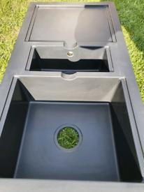 BNIB CUBIX I.5 Bowl Black sink