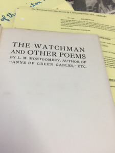 L M Montgomery first edition The Watchman and other Poems