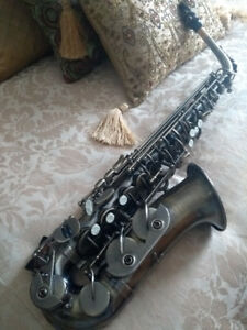 saxophone alto / étui de transport / support / anches / méthode