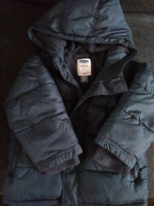 Toddler Boy Fall Winter Spring Navy Blue Jacket Coat Size 3T