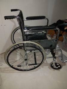 1 chaise roulante pour adulte , roues de 23 pouces