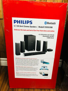 New ! Philips Zenit Cinema Speakers : Brand New-FREE DELIVERY !!