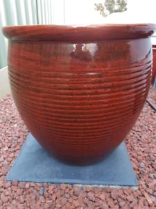 Glazed ceramic pot | Pots & Garden Beds | Gumtree Australia
