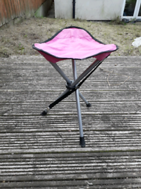 Pink camping stool