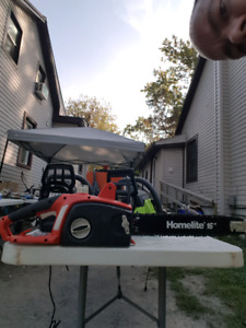 "Home lite 16"" electric chainsaw"