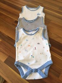 Next - 3 Pack Vests - Up to 1 Month